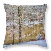 Hillside Snow - Winter Landscape Throw Pillow
