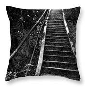 Hillside Stairs Throw Pillow