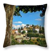 Hillside Tuscan Village  Throw Pillow