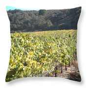 Hillside Vineyard Throw Pillow