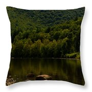Hilltop In The Berkshires Throw Pillow