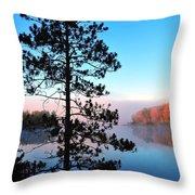 Hilltop View Of Stoneledge Lake Throw Pillow by Terri Gostola