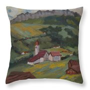 Hilltop Village Switzerland Throw Pillow