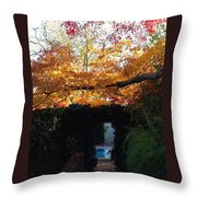 Hillwood Mansion Fall Garden Throw Pillow