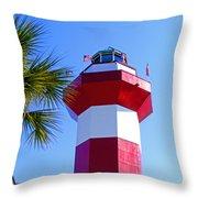 Hilton Head Lighthouse Upclose Throw Pillow