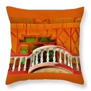 A Beautiful Balcony - Himalaya India Throw Pillow