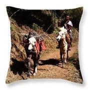 Himalayan Horseman - Nepal Throw Pillow