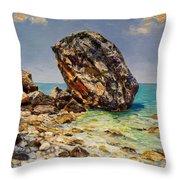 Himara's Big Rock Throw Pillow