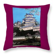 Himeji Castle Throw Pillow