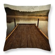 Hinckley Lake Sunrise Throw Pillow