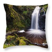 Hindhope Waterfall Throw Pillow