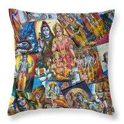 Hindu Deity Posters Throw Pillow