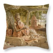 Hindu Fakir, From India Ancient Throw Pillow