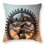Hindu Statue Of Shiva In Nataraja Dance Pose Throw Pillow