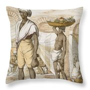 Hindu Valet Or Buyer Of Food, From The Throw Pillow