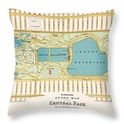 Hinrichs Guide To Central Park 1875 Throw Pillow