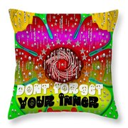 Hippie Art Throw Pillow