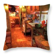 Hippie Bus Throw Pillow