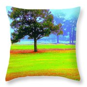 Hippie In The Tree Throw Pillow