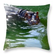 Hippo Bling Throw Pillow