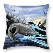 Hippocampi Throw Pillow