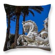 Hippocampus At Caesars Palace Throw Pillow