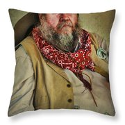 Hired Hand Throw Pillow