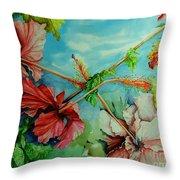Hiroko's Hibiscus 3 Throw Pillow