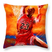 His Airness Throw Pillow by Lourry Legarde