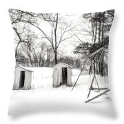 His And Hers - Charcoal  Throw Pillow
