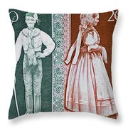 His And Hers Traditional Costumes Throw Pillow