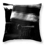 His Chair 2 Throw Pillow