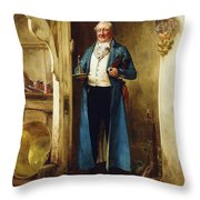 His Favourite Bin; And Testing Throw Pillow by Walter Dendy Sadler