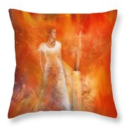 His Flame Throw Pillow