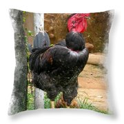 His Magesty Throw Pillow