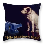 His Master's Vise Throw Pillow