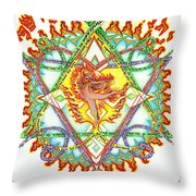 His Ministers A Flamming Fire Throw Pillow