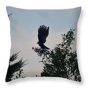 His Morning Stretch Throw Pillow