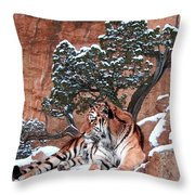 His Mountain Throw Pillow