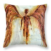 His Promise Throw Pillow by Ivan Guaderrama
