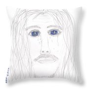 His Tears Throw Pillow