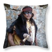His Warclub - In Color Throw Pillow