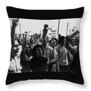 Hispanic Anti-viet Nam War Rally Tucson Arizona 1971 Black And White Throw Pillow