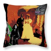 Hispanic Wedding Libertad Lady Photo Gallery Collage 1880-2010 Throw Pillow