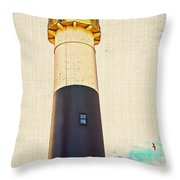 Historic Absecon Lighthouse Throw Pillow