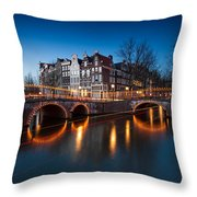 Historic Amsterdam Throw Pillow