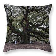 Historic Angel Oak Throw Pillow