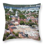 Historic Annapolis Maryland Throw Pillow