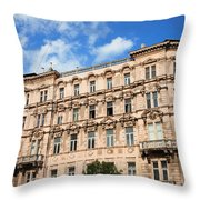 Historic Apartment House In Budapest Throw Pillow