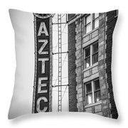 Historic Aztec Theater Throw Pillow